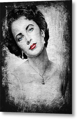 Hollywood Greats Elizabeth Taylor Metal Print by Andrew Read