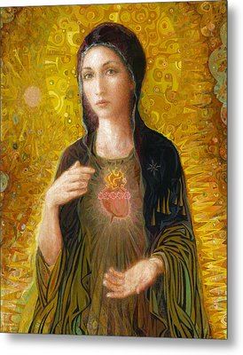 Immaculate Heart Of Mary Metal Print by Smith Catholic Art
