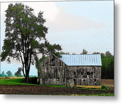 Indiana Barn Metal Print by Joyce Kimble Smith