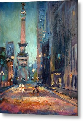 Indy Circle Monument Metal Print by Donna Shortt