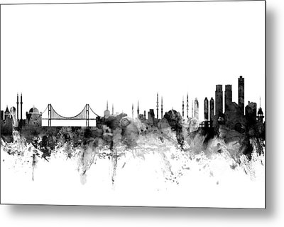 Istanbul Turkey Skyline Metal Print by Michael Tompsett