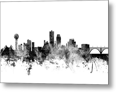 Knoxville Tennessee Skyline Metal Print by Michael Tompsett