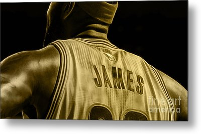 Lebron James Collection Metal Print by Marvin Blaine