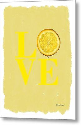 Lemon Metal Print by Mark Rogan