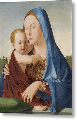 Madonna And Child Metal Print by Antonello da Messina