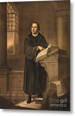 Martin Luther, German Theologian Metal Print by Photo Researchers