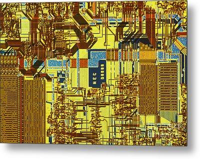 Microprocessor Metal Print by Michael W. Davidson