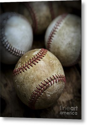 Old Baseball Metal Print by Edward Fielding