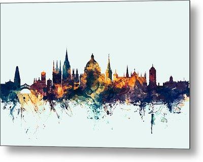 Oxford England Skyline Metal Print by Michael Tompsett