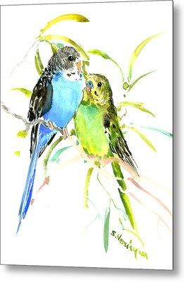 Parakeets Metal Print by Suren Nersisyan