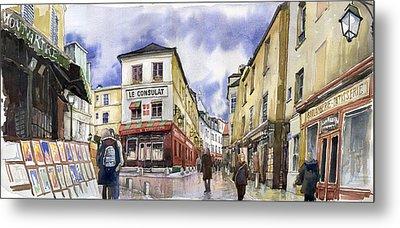 Paris Montmartre  Metal Print by Yuriy  Shevchuk