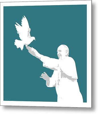 Pope Francis Metal Print by Greg Joens