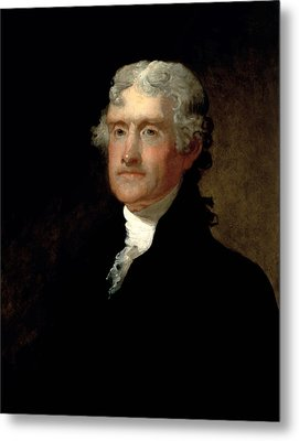 President Thomas Jefferson  Metal Print by War Is Hell Store