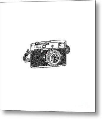 Rangefinder Camera Metal Print by Setsiri Silapasuwanchai