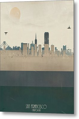 San Francisco California Metal Print by Bri B