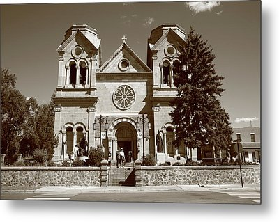 Santa Fe - Basilica Of St. Francis Of Assisi Metal Print by Frank Romeo