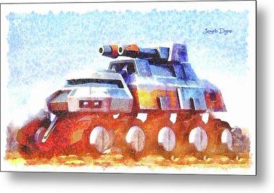 Star Wars Rebel Army Armor Vehicle Metal Print by Leonardo Digenio