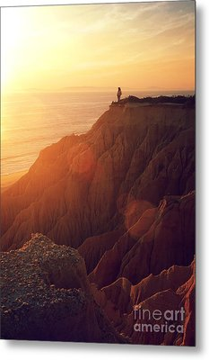 Sunset Beach Metal Print by Carlos Caetano