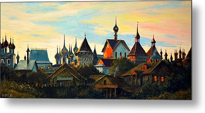 Sunset In Rostov Metal Print by Henryk Gorecki