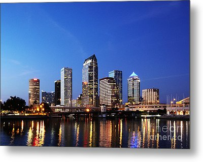 Tampa Skyline Metal Print by Skip Nall