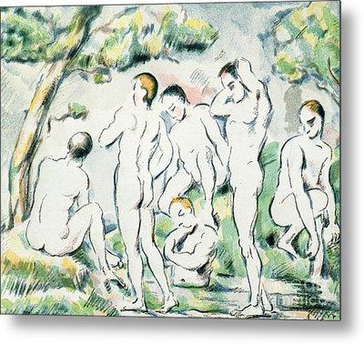 The Bathers Metal Print by Paul Cezanne