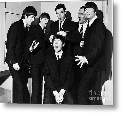 The Beatles, 1964 Metal Print by Granger