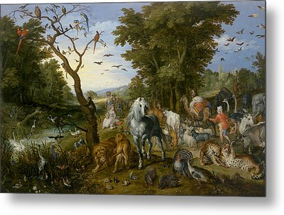 The Entry Of The Animals Into Noah's Ark Metal Print by Jan Brueghel the Elder