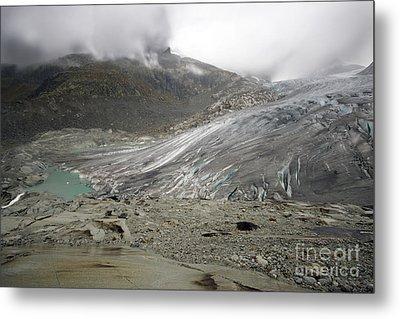 The Glacier Metal Print by Angel  Tarantella