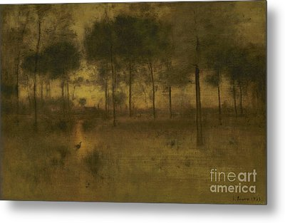 The Home Of The Heron Metal Print by George Inness
