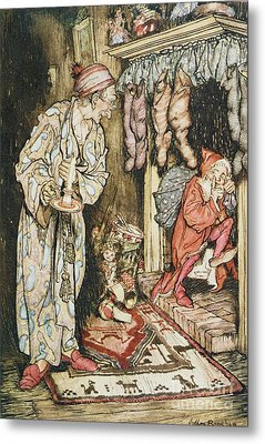 The Night Before Christmas Metal Print by Arthur Rackham