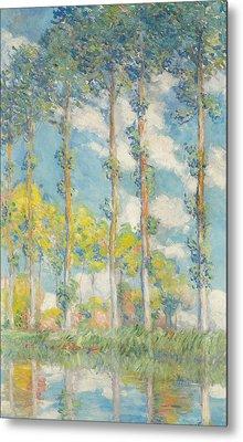 The Poplars Metal Print by Claude Monet
