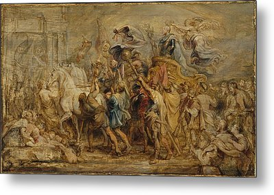 The Triumph Of Henry Iv Metal Print by Peter Paul Rubens