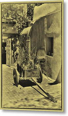 The Wooden Cart Metal Print by David Patterson