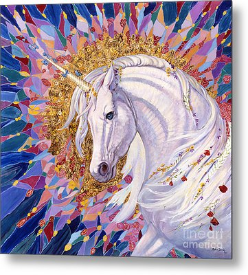 Unicorn II Metal Print by Silvia  Duran