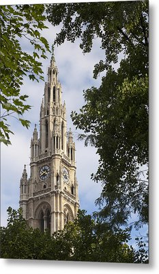 Vienna City Hall Metal Print by Andre Goncalves