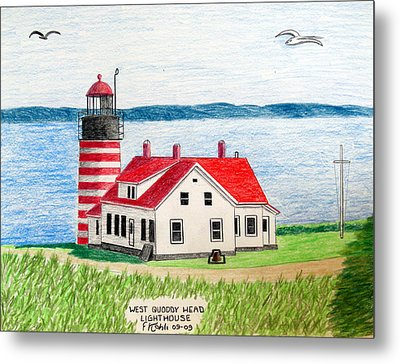 West Quoddy Head Lighthouse Metal Print by Frederic Kohli