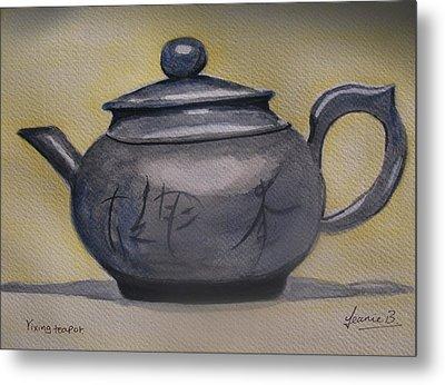 Yixing Teapot Metal Print by Jean Billsdon