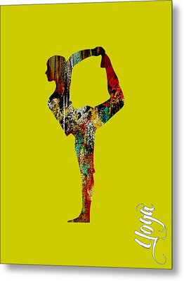Yoga Collection Metal Print by Marvin Blaine