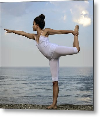 Yoga Metal Print by Joana Kruse