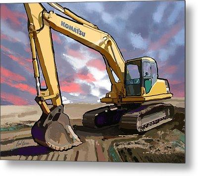 2004 Komatsu Pc200lc-7 Track Excavator Metal Print by Brad Burns