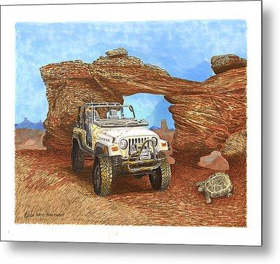 2005 Jeep Rubicon 4 Wheeler Metal Print by Jack Pumphrey