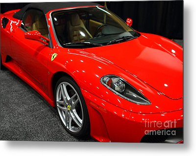2006 Ferrari F430 Spider . 7d9385 Metal Print by Wingsdomain Art and Photography