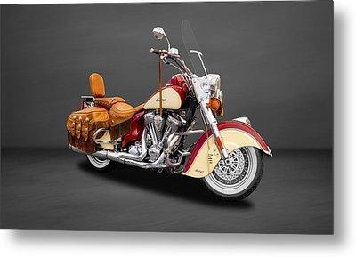 2010 Indian Chief Vintage Motorcycle   -   2010indian22 Metal Print by Frank J Benz