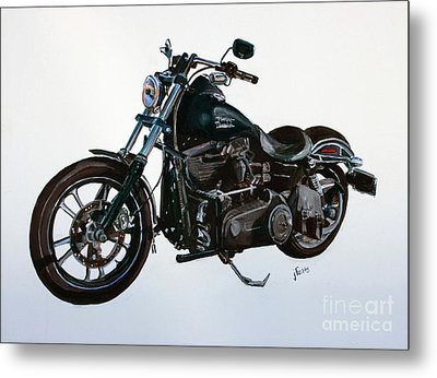 2015 Harley Davidson Dyna Metal Print by Janet Felts