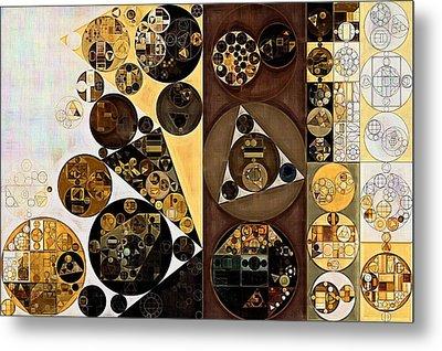Abstract Painting - Zinnwaldite Brown Metal Print by Vitaliy Gladkiy