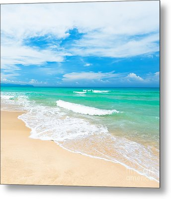 Beach Metal Print by MotHaiBaPhoto Prints