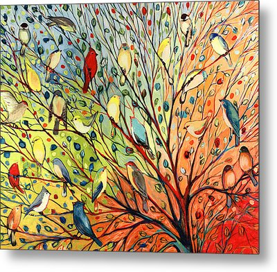 27 Birds Metal Print by Jennifer Lommers