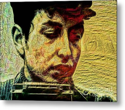 Bob Dylan Collection Metal Print by Marvin Blaine