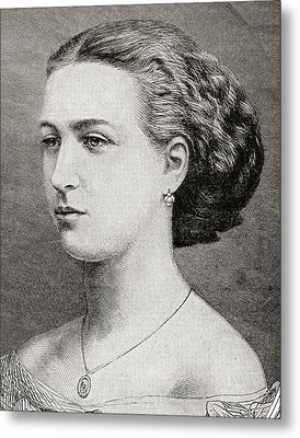 Alexandra Of Denmark, 1844 Metal Print by Vintage Design Pics