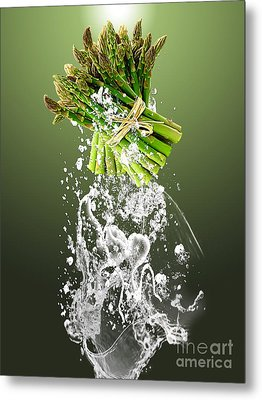 Asparagus Splash Metal Print by Marvin Blaine